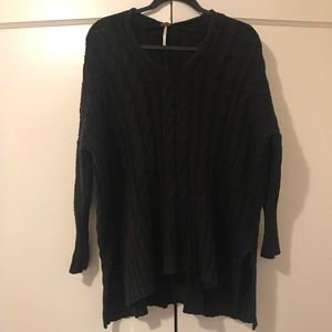 Free People Oversized Cable Knit Top